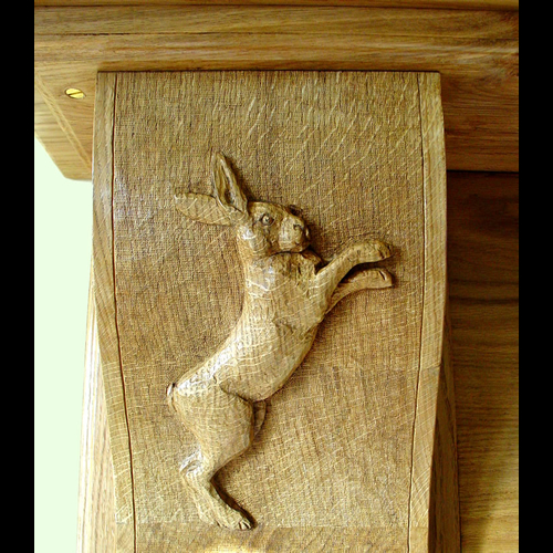 Hare fireplace side decoration