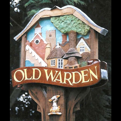 Old Warden village sign