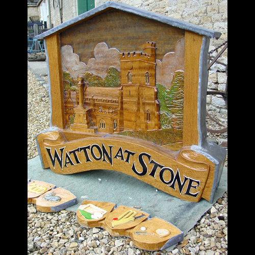 Watton At Stone Village Sign